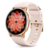 Stiive Smart Watch, 1.28 Inch Full Touch Screen Smartwatch for Men Women, Heart Rate & Sleep Monitor, Pedometer IP68 Waterproof Fitness Watch for Android & iOS Phones-Pink