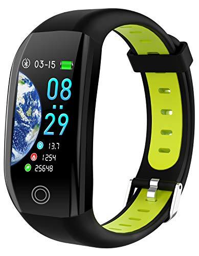 GPS Fitness Armband Sport Tracker Uhr Pulsuhr Wasserdicht Schrittzähler Kalorienzähler Anruf/SMS Smartwatch Damen Herren