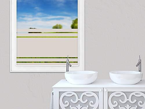 GRAZDesign Sichtschutzfolie Fensterfolie selbstklebend viele Streifen dünn dick, zur Dekoration und Sichtschutz, Blickdichte Glasdekorfolie / 100x57cm