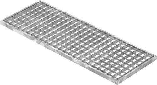 Fenau | Rejilla de acero piso Dimensiones: 290 x 790 x 20 mm - MW: 30 mm / 30 mm (galvanizado en caliente) (Apto para marco: Fenau 300 x 800 x 23 mm)