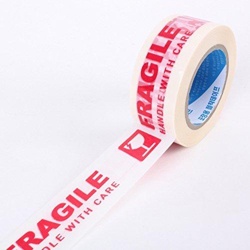 カートンテープ フラジール・テープ 割れ物注意・荷札テープ 梱包テープ こわれもの 取扱注意 パッキングテ...
