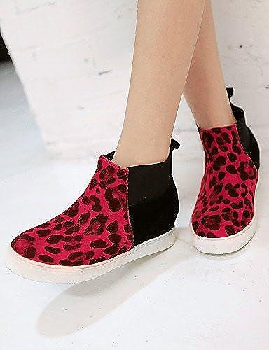 XZZ  Chaussures Femme - Bureau & Travail     Habillé   Décontracté   Soirée & EvéneHommest - Noir   Jaune   Rouge - Plateforme - Bout Arrondi - 631