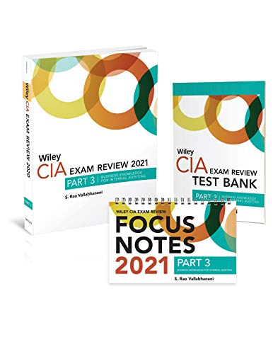 Compare Textbook Prices for Wiley CIA Exam Review 2021 + Test Bank + Focus Notes: Part 3, Business Knowledge for Internal Auditing Set 1 Edition ISBN 9781119759508 by Vallabhaneni, S. Rao