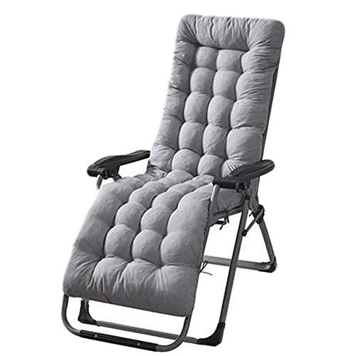 Patio Chaise Lounge Cushion ,61Inch Thickened Chaise Lounger Cushion Recliner Cushions Rocking Chair Cushions Outdoor Sun Lounger Chair Cushions Sofa Cushion Tatami Mat Seat Cushion (Grey)