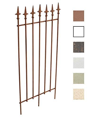 CLP Metall-Rankgitter Elisa I Größe: 100 x 50 cm, Stabstärke 0,7 cm I Rankhilfe für Kletterpflanzen I erhältlich, Farbe:antik braun