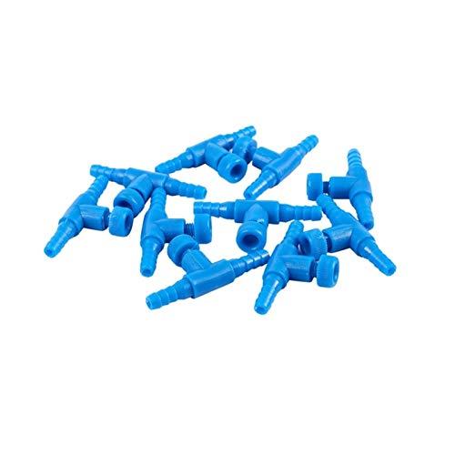 LXH-SH Das elektromagnetische Ventil 10 Stück Kunststoff-Aquarium 2-Wege-Luftpumpe Regelventile, Blau Industriebedarf
