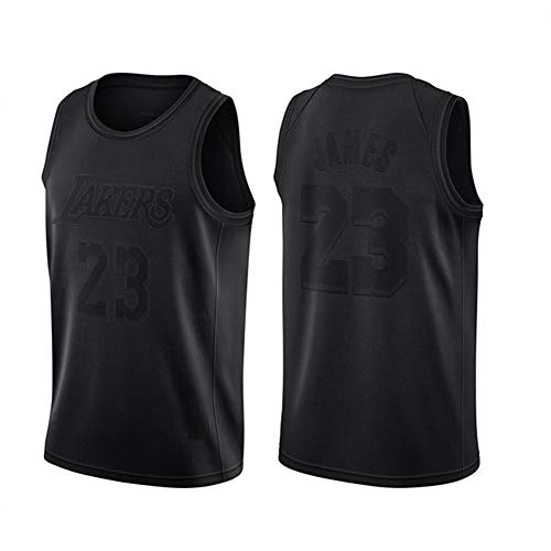 James 23# Lakers - Camiseta de baloncesto sin mangas para verano, retro, unisex, de alta calidad (S-XXL) negro XL