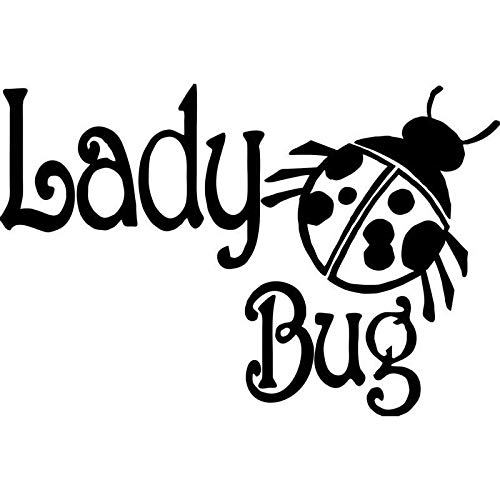 PJYGNK Sticker de Carro 16 CM * 10,7 CM Lady Girl Bug Animal Ladybug Coche Vinilo calcomanía Pegatina decoración de Estilo de Coche para Negro Plateado C8-0395