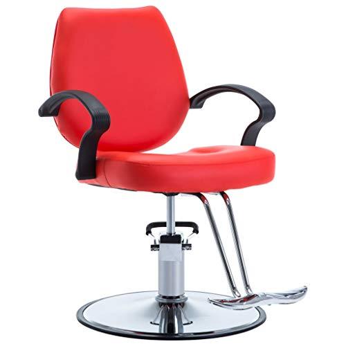 vidaXL Poltrona da Barbiere Similpelle Rossa Sgabello Spa Salone Parrucchiere