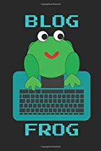 Blog Frog: Planner, Notebook, Journal, Soft Cover Decor Book - to note or scribble down ideas for blog writing, sketchbook for illustration, design ideas, log, diary - blank dot grid