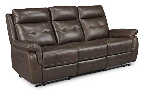 Homestyles by Flexsteel Lux Leather Power Motion Reclining Sofa