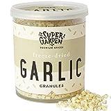 Super Garden ajo liofilizado - Producto 100% puro y natural - Apto para veganos - Sin azúcares, aditivos artificiales ni conservantes añadidos - Sin gluten - No OMG