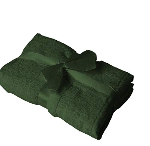 EXKLUSIV HEIMTEXTIL Alfombrilla de baño (50 x 80 cm), color verde oscuro