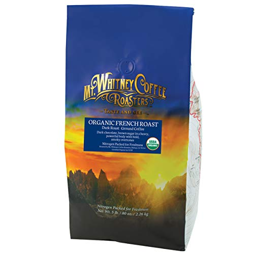 Mt. Whitney French Roast, Dark Roast Organic Ground Coffee - 5 lb bag