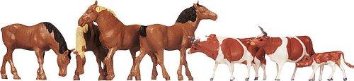 VAER 154002 - paarden, koe bruin gevlekt