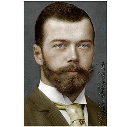 ADNHWAN Lo zar Nikolai II Alexandrovich Romanov Imperatore di Russia Ritratto Poster Decorativo da Parete Stampe su Tela Home Decor -50X70cm No Frame 1 PCS