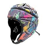 AUTUUCKEE Casco de rugby de competición, adulto, suave casco para deportes al aire libre, protección de la cabeza de fútbol (A)