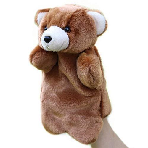 BLTR Suave Adorable marioneta de Peluche del Oso Zoo Amigos Animales Títeres educativos muñecas del Oso Precioso Natural