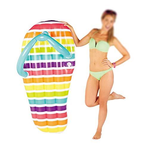 RUIXFAP Plegable Chanclas de salón inflables Cama Flotante Inflable Sillón reclinable Cama de colchón de Aire Agua para Adultos Ocio Anillo de natación Flotador de Agua Regalo, Green