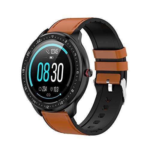 LWP Nuevo Z06 Smart Watch Pulsera de la Aptitud 1.3 Pulgadas HD Pantalla táctil Redonda Bluetooth Pedómetro Smart Watch para Android iOS,C
