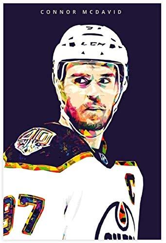 Adultos Puzzle 200 Piezas Niños Rompecabezas Hockey Connor McDavid 200 piezas 13.7x9.8inch(35x25cm) Sin Marco