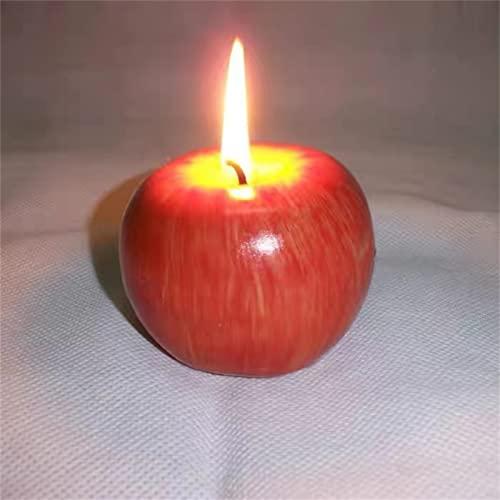 xinmiao 2 candele profumate di Natale a forma di mela rossa, idea regalo regalo per la decorazione di Natale, ornamenti creativi di Natale