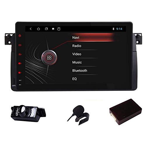 Android Radio de 9 pulgadas compatible con E46 1999-2004 Estéreo para automóvil DAB (integrado) Radio para automóvil 2GB RAM 80G ROM Quad-Core GPS Unidad principal Bluetooth Soporte Control del vola