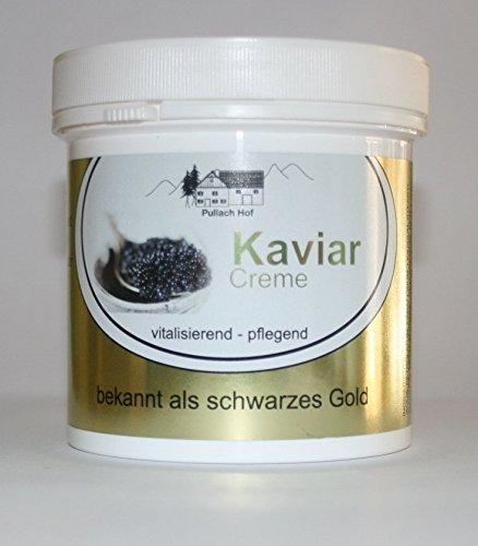 1x Kaviar Creme 250ml Pullach Hof aus dem Allgäu, Creme mit dem Extrakt aus der Tiefe des Meeres, bekannt als schwarzes Gold, MADE IN GERMANY