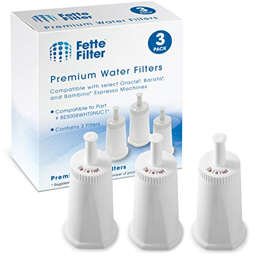 Fette Filter - Replacement Water Filter Compatible with Breville Claro Swiss For Oracle, Barista & Bambino - Compare to Part #BES008WHT0NUC1 - Pack of 3