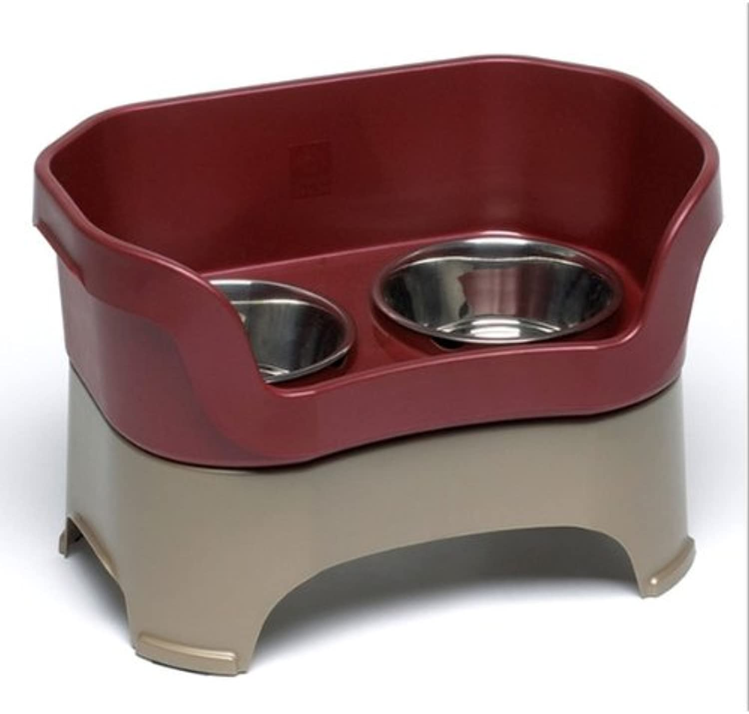 Neater Feeder for Dogs Large Dog Bowl Cranberry