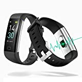 Fitness Tracker, Smartwatch Waterproof IP68 Fitness Bracelet with Heart Rate Monitor 2.4 cm Color Screen Pedometer Clock Heart Rate Monitor Activity Tracker Smart Watch Fitness Watch