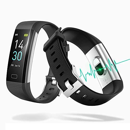 Pulsera de actividad física, reloj inteligente impermeable IP68 con monitor de ritmo cardíaco de 0,96 pulgadas, pantalla a color, podómetro, monitor de ritmo cardíaco, monitor de actividad