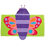 Stephen Joseph baby girls Butterfly childrens towel, Purple Butterfly, One Size US