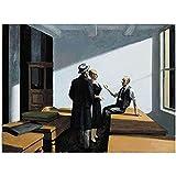 Decoración de Pared póster de Edward Hopper Cuadro sobre Lienzo para Pared Impreso para decoración del hogar de la Sala de Estar -50X70 CM sin Marco