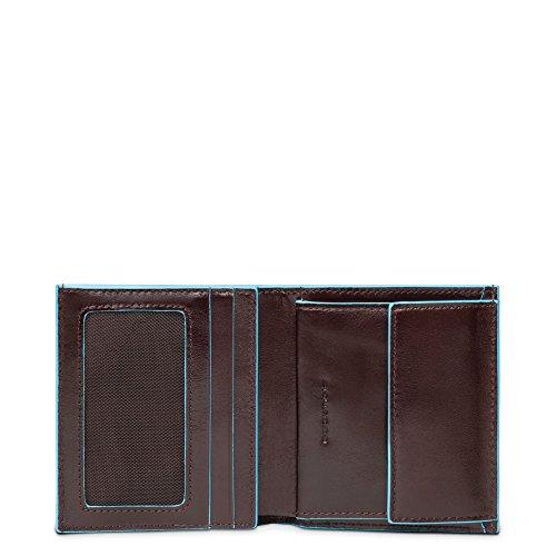 Piquadro PU1741B2 - Billetera, colección BLU Square, Caoba