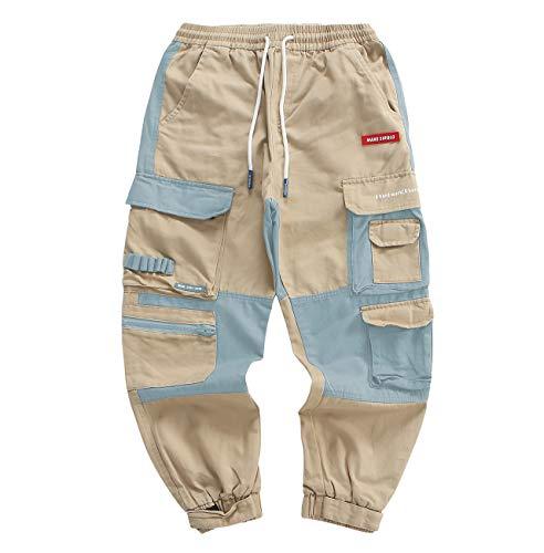 Barrageon Herren Cargo Kampf Hose, Multi Taschen Arbeitshosen,Lässige Hip Hop Hosen für Jugendliche und Jungen