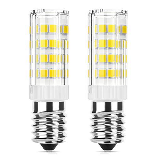 DiCUNO E14 LED-lamp 4W, Vervanging voor 40W halogeenlampe, 400 Lumen, Koud wit 6000K, 220-240V, Niet dimbaar, Energiebesparing, E14 LED maïs, Keukenverlichting/Wandlamp/Tafellamp, 2 Stuks