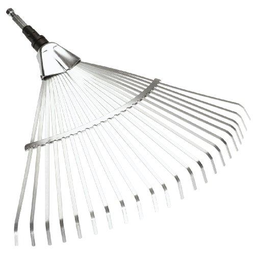 Gardena combisystem-Fächerbesen: Laubrechen mit 50 cm Arbeitsbreite, ideales Gartenzubehör zum Zusammenfegen von Gartenabfällen wie Laub oder Grasschnitt, passend zu allen cs-Stielen (3102-20)