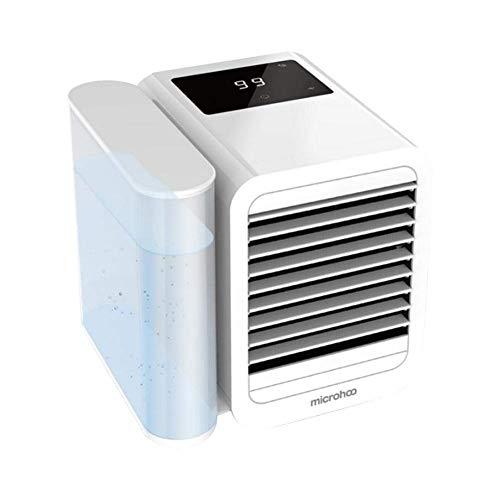 LHZHG Aire Acondicionado Portátil Enfriador, 3-en-1 Mini Enfriador Humidificador Purificador de Aire Portátil USB Aire Acondicionado para Casa/Oficina/Camper
