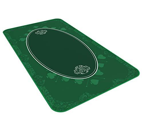Tapis de table universel pour les jeux de société et de cartes vert en 140 x 75cm - Tissu de jeu de luxe - Tapis de jeu - Tapis de table