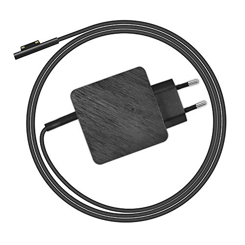 LEICKE Surface Pro Laptop Netzteil Max. 45W | TÜV | USB-C: 20V/2.25A, 2V/ 3A, 9V/ 3A, 5V/3A | Ladegerät 44W 15V 2.58A Adapter for Microsoft Surface Pro 3/4/5/6 Surface Book mit 6ft Netzkabel | 1.7m