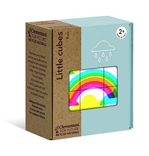 Clementoni- Little Météo-Puzzle de Cube 6 pièces-matériaux 100% recyclés-fabriqué en Italie, 2 Ans et Plus, 16225, Multicolore