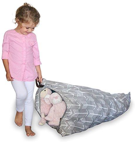 MiniOwls Sitzsack für Spielzeug, 100 l Hüfte 100 l grau