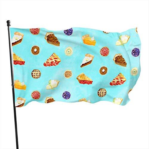 Cy-ril Tortenmuster Vorschau Fly Breeze 3X5 Fuß Polyester Flagge, lichtbeständige dauerhafte Gartenflagge