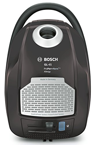 Bosch Elettrodomestico BGL45500 Aspirapolvere a Carrello con Sacco, 750 W, 5 Litri, 75 Decibel, Grigio Argento