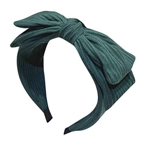 FRENDLY Women's Solid Bow Headband Creative Headwear Fashion Hair Accessories Knot Turban Elastic Plain Hair Band