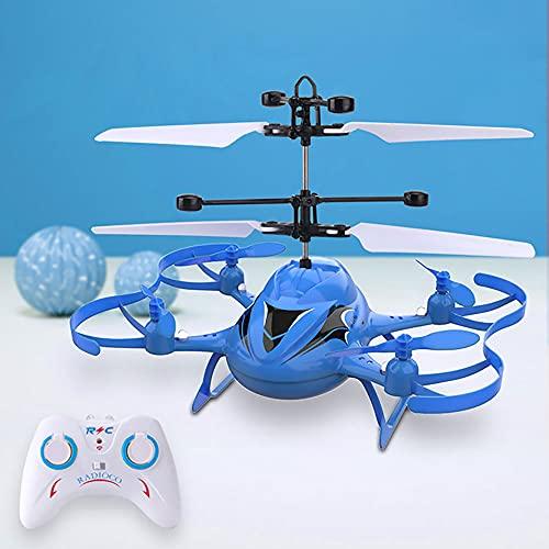 ALYHYB Mini Drone, Elicottero Telecomandato per Bambini, Aereo A Induzione, Giocattoli Volanti RC con Ricarica USB, Regali di Natale per Aeroplani per Ragazzi E Ragazze Adulti Giocattolo per Interni
