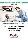 Técnicos Medios Sanitarios. Cuidados Auxiliares de Enfermería. Temario Específico y Test. Volumen 1: Servicio de Salud de Castilla-La Mancha (SESCAM)