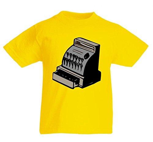 Camiseta de manga corta, diseño retro, efecto antiguo, aislante, anticuado, anticuado, anticuado, anticuado, anticuado, apto para hombres, mujeres y niños, 104 – 5 XL amarillo Talla del hombre: 4X-Large