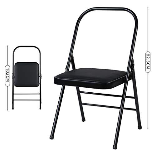 SPORETE Chair Yoga PRO, Prop per flessibilità e la Forza di Formazione, Pieghevole Iyengar Yoga Chair ausiliario, Doppio Fascio Struttura, Piedini Antiscivolo Covers, Balance Training,D